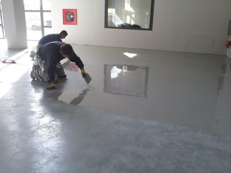 Pavimenti Industriali In Resina Epossidica : Pavimenti industriali lavori eseguiti pavimentazioni resine